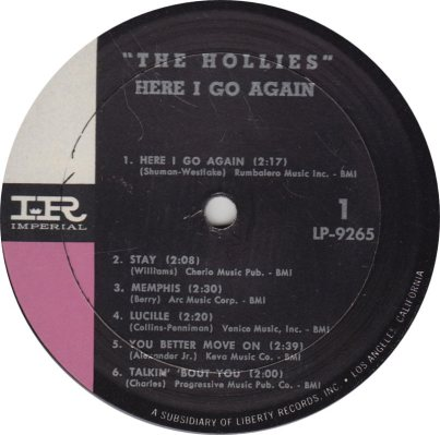 HOLLIES 01 - HERE I GO
