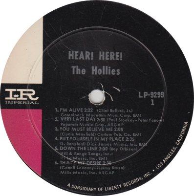 HOLLIES 02 HEAR