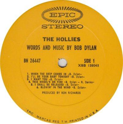 HOLLIES 09 DYLAN