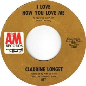 LONGET CLAUDINE 66 B