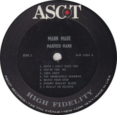 MANFRED MANN - MANN MADE R