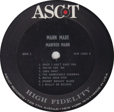 MANFRED MANN - MANN MADE R