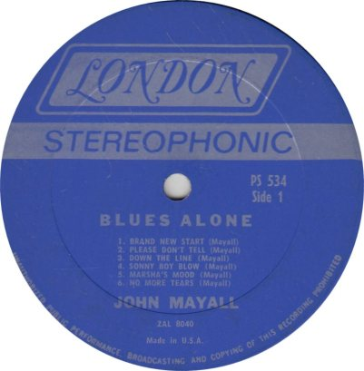 MAYALL J - 03 - BLUES ALONE