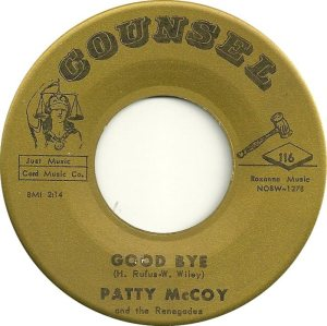 MCCOY PATTY AND RENEGADES 62 B