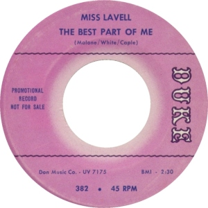 MISS LAVELL 65 A