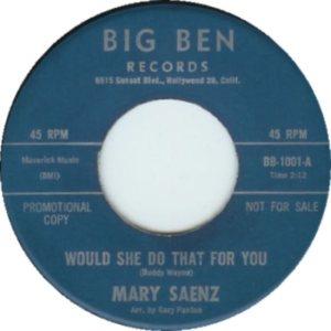 SAENZ MARY - 63 B