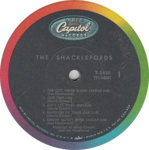 SHACKLEFORDS - CAPITOL 2450