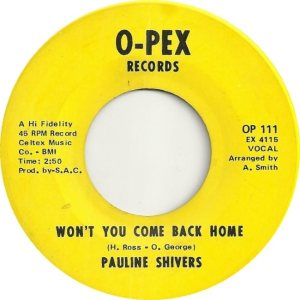 SHIVERS PAULINE 60'S A