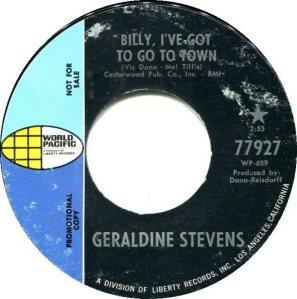 STEVENS GERALDINE 69 A