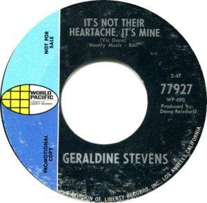 STEVENS GERALDINE 69 B