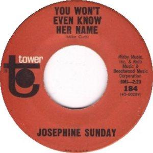 SUNDAY JOSEPHINE 65 A