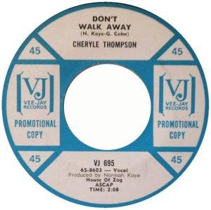 THOMPSON CHERYLE - 65 B