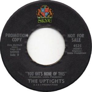 UPTIGHTS - 60'S B