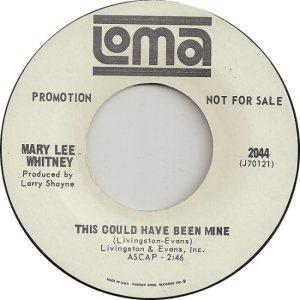 WHITNEY MARY L 66 B
