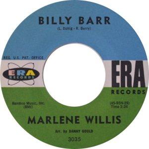 WILLIS MARLENE 60 AA