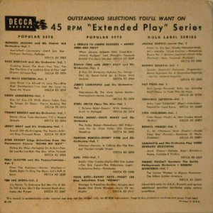 1954 EP - DECCA 2168 B