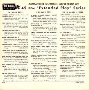 1954 EP - DECCA 2209 B