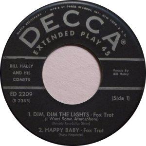 1954 EP - DECCA 2209 C