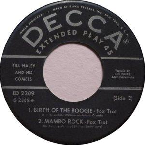 1954 EP - DECCA 2209 D