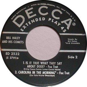 1957 EP - DECCA 2532 D