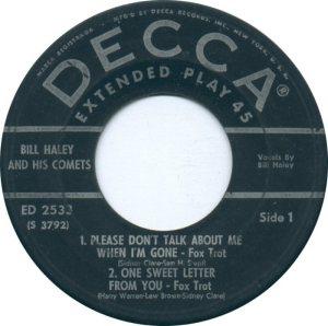1957 EP - DECCA 2533 C