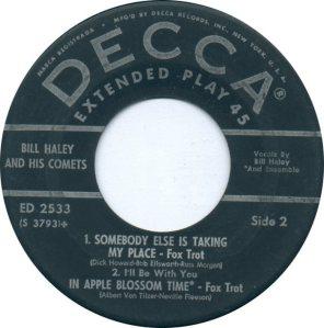1957 EP - DECCA 2533 D