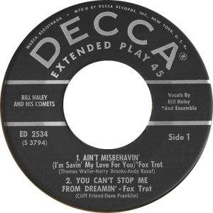1957 EP - DECCA 2534 C