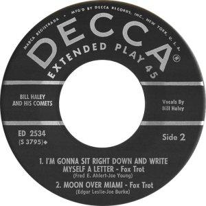 1957 EP - DECCA 2534 D
