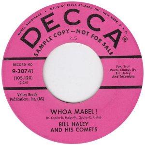 1958 - DECCA 30741 A