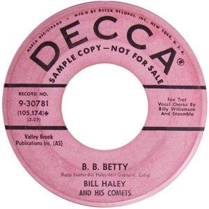 1958 - DECCA 30781 B