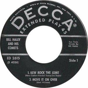 1958 - DECCA EP 2615 B