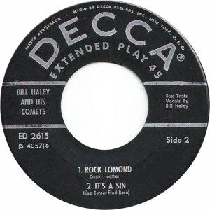 1958 - DECCA EP 2615 C