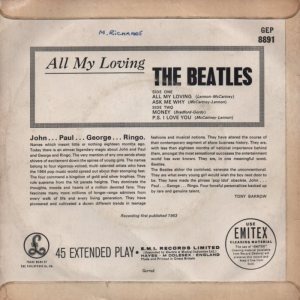 1964-02-08 - ALL MY LOVING B