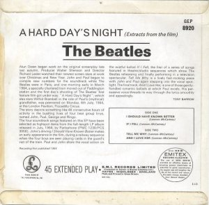1964-11-14 - HARD DAYS NIGHT B