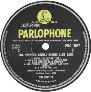 1967-12-03 - SGT PEPPERS - LP F