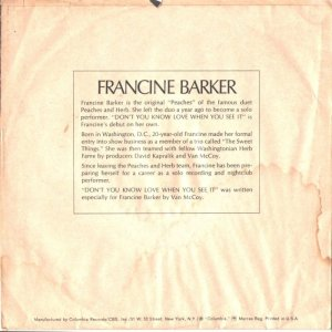 BARKER FRANCINE 68 B