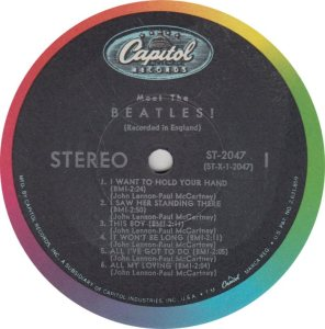 BEATLE LP LABEL 01 RE 68