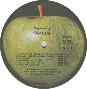BEATLE LP LABEL 01 RE 71