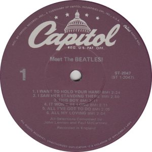 BEATLE LP LABEL 01 RE 78
