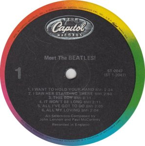 BEATLE LP LABEL 01 RE 83