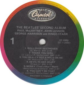 BEATLE LP LABEL 06 RE 83