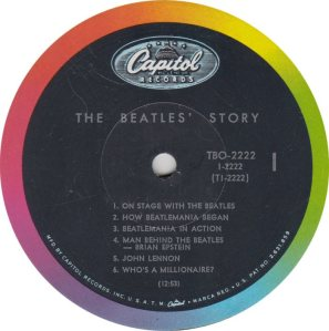BEATLE LP LABEL 14