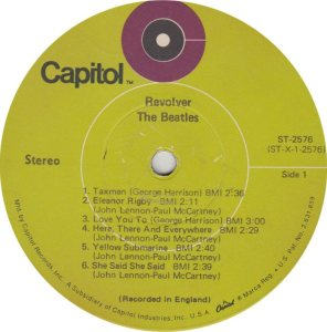 BEATLES LP LABEL 25 69