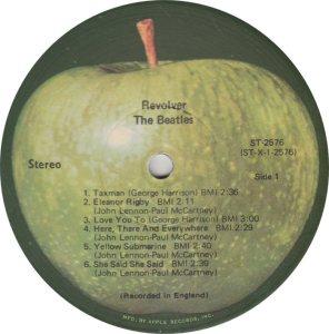 BEATLES LP LABEL 25 71