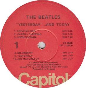 BEATLES LP LABEL 25 76