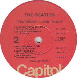 BEATLES LP LABEL 25 76_0001