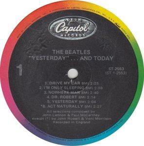 BEATLES LP LABEL 25 83