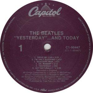 BEATLES LP LABEL 25 88