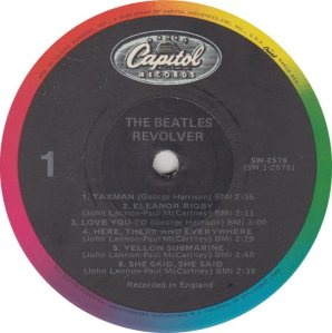 BEATLES LP LABEL 27 83