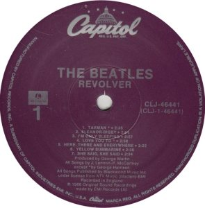 BEATLES LP LABEL 27 89